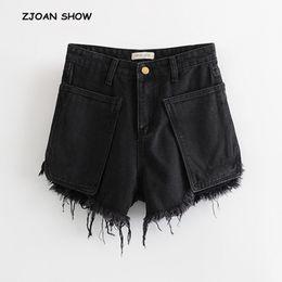 $enCountryForm.capitalKeyWord Australia - 2019 New High Street Tassel hem Short Denim Shorts Vintage Women Short Pants Burr Hem Sexy Summer Jeans White Trousers
