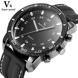 $enCountryForm.capitalKeyWord Australia - reloj de pulsera V6 Super Speed Brand Men Watch Big Dial Sport Watches Fashion 24-hour Clock Double Ring Scale Male Wristwatch