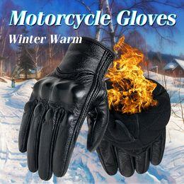 $enCountryForm.capitalKeyWord Australia - Motorcycle Gloves Winter Warm Thermal Genuine Leather Touch Screen For Men Cycling Glove Motorbike Racing Guantes Gants De Moto MX190817