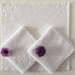 Tabla de la boda blanca del partido del pañuelo Servilletas la cocina casera impresión toalla de té del plato absorbente de limpieza Toallas servilleta del cóctel HH9-2443 en venta