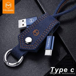 $enCountryForm.capitalKeyWord Australia - Denim Fabric car Key Chain Lightning to USB Cable keyring Aluminum Alloy USB Connector Fast Charging Cable Type C Keychain Cable