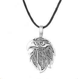Vintage Eagle Pendant Australia - A28 Vintage Jewelry Viking Animal Eagle Head Pendant Supernatural Norse Viking Amulet Necklace
