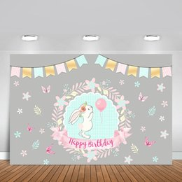 Discount cartoon photography background - Vinyl Photography Backgrounds Baby Shower Girl Birthday Party Cartoon Butterfly Flower Children Backdrop Photo Studio