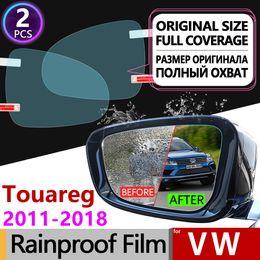 Опт для Volkswagen VW Touareg 2011 - 2018 7P Full Cover Anti Fog Film Зеркало заднего вида Водонепроницаемые противотуманные пленки Clean Car Accessories