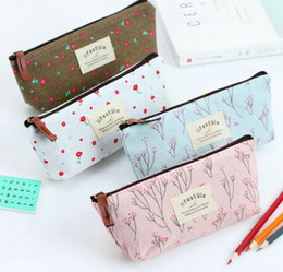 Pen Pouches Australia - Pencil Pen Case Countryside Flower Cosmetic Bags Floral Makeup Bag Storage Pouch Purse Wash Bags 4 Designs Optional YW2930
