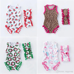 $enCountryForm.capitalKeyWord Australia - INS Designer Toddler Baby Girls Ruffled Romper Clothes Watermelon Chirstmas Sleeveless Leopard Newborn Jumpsuit Newborn Romper Onesies 0-2T