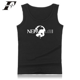neon clothes clothing NZ - Japan Anime Evangelion Tank Top Eva fitness Bodybuilding Tank Top men Neon Genesis Vest clothing Summer Sleeveless colete