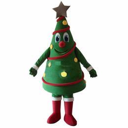 tree costumes Australia - 2018 High quality new Green Christmas Tree Mascot Costume Free Shipping