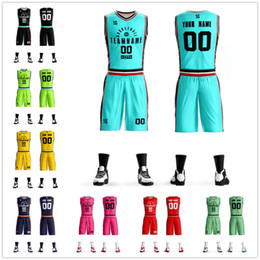 942ebd0c5 Basketball Jerseys Shorts NZ - New Adult Custom Basketball Jersey Set Uniforms  kits Men College Students