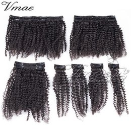 smoothing curly hair 2020 - VMAE 4A 4B Afro Kinky Curly Clip In Hair weave Extension Fashionable Soft Smooth Silky 100% Natural Black Brazilian Virg