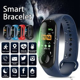Wristband fitness online shopping - Factory Store Smart Watch Band Bracelet Wristband Fitness Tracker Blood Pressure Heart Rate M3 Smartwatch Drop Shipping