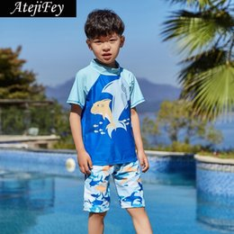 f8f2b338f8 2019 Summer Boys Swimsuits Bathing Suit Two Pieces Separates Rash Guards  Swimwear Baby Toddler Boy's Swimming Suit Children