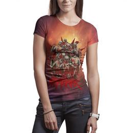 $enCountryForm.capitalKeyWord NZ - Woman slipknot skull t shirts Polyester white design graphic fashion Tees