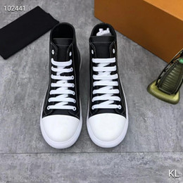 leather high Canada - France famous design High top womens Flats Genuine Leather Lace-Up Casual Shoes Trend Luxury Platforms Denim Breathable women shoes-2