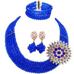 $enCountryForm.capitalKeyWord NZ - wholesale Classic Fashion Nigeria Wedding Africa Beads Jewelry Set Beige Necklace Bracelet Bridal Jewelry Sets MH-07