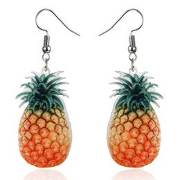 tomato gifts UK - Fashion Fruit Shaped Earrings Lovely Fruit Apple Watermelon Strawberry kiwi Tomatoes Orange earring for Woman and Girl Free Shipping