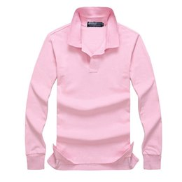 Ingrosso 2019 Poloshirt Solid Polo Shirt Uomo Luxury Polo Shirt manica lunga da uomo Basic Top Cotton Polo per ragazzi Designer di marca Polo Homme MP020