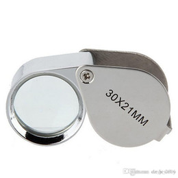 Loupe Wholesalers Australia - Mini 30x21mm Jewelers Eye Loupes Jewelry Diamond Magnifiers Magnifying Glass Ingenious portable Loupe Magnifier Silver color