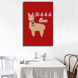 $enCountryForm.capitalKeyWord Australia - Christmas Deer Comic HD Art Canvas Anime Modern Poster Painting Wall Picture Print Home For Living Room Bedroom Decoration