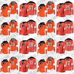 John T Shirts Australia - 2019 Platinum Philadelphia Flyers 17 Simmonds 28 Giroux 93 Voracek 37 Elliott 53 Gostisbehere 19 Patrick 11 Konecny T-shirt Hoodies Jerseys