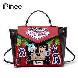 leather mini shoulder bag for men 2019 - iPinee Women Backpacks Hot Sale Fashion Causal Bags High Quality Embroidery Female Shoulder Bag PU Leather Backpacks For