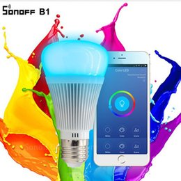 $enCountryForm.capitalKeyWord Australia - Itead Sonoff B1 Dimmable LED Wifi Smart Light Bulbs Remote Control APP Control Via Andriod & IOS Color Changing Smart LED Bulb