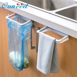 $enCountryForm.capitalKeyWord Australia - wholesale organizer Hanging Kitchen Cabinet Door Trash Rack Style Storage Rack Garbage Bag Holder