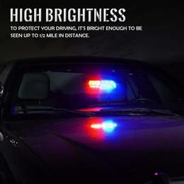 Lighting Dash Australia - RGB High Intensity LED Law Enforcement Emergency Hazard Warning Strobe Lights For Interior Roof Dash Windshield With Suction Cu