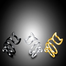 $enCountryForm.capitalKeyWord Australia - Cute cat ears and tails multi-circle winding brushed cute totoro opening adjustable ring ladies and women sweet jewelry gifts