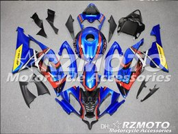 Yamaha Blue Australia - 4 Free Gifts New Injection ABS Fairing kits 100% Fit for YAMAHA YZFR6 08 09 10 11 12 13 14 15 YZF R6 2008-2015 YZF600 set Blue red CX