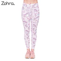 4096f595b62ac Unicorn Leggings Australia - Zohra Quality Women Legging Unicorns World  Printing Fashion Leggings Elegant Cozy Woman