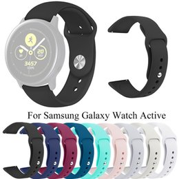 samsung smart watches Australia - Silicone strap For Samsung Galaxy Watch Active luxury designer sports solid color watchbands for samsung smart watches accessories