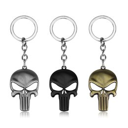 $enCountryForm.capitalKeyWord UK - The Punisher Skull Logo Film Symbol Keychains And Bottle Opener Superhero Stainless Steel Pendant Punisher Film Halloween gifts