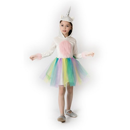 $enCountryForm.capitalKeyWord UK - Cosplay Kid Princess Dress Unicorn Party Supplies Halloween Carnival Colourful Girl Perform Show Costume Comfortable Popular Hot Sale 49xgD1