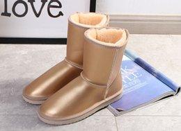 Diseñador de ropa de mujer de alta calidad nueva moda australiana clásica botas de invierno, botas de cuero, botas de nieve, color de luz especial