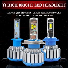 bright led headlight bulbs Canada - 2XH7 LED H4 Hi Lo Beam T1 No Error Canbus Car Headlight H1 H8 H9 H11 9005 9006 Bulb Headlamp Light 6000K Super Bright 70W 7000Lm
