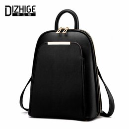 $enCountryForm.capitalKeyWord Australia - Dizhige Brand 2017 Solid High Quality Pu Leather Backpack Women Designer School Bags For Teenagers Girls Luxury Women Backpacks Y19061102