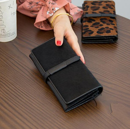 Leopard waLLets online shopping - Luxury Lady Leopard long Wallets Genuine Leather Horse hair Card Holders Hasp Lady Retro color Simplicity High capacity Passcard Pocket