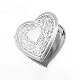 picture lockets pendant UK - 100% Stainless Steel Heart Couple Locket Pendant Openable Box Picture Photo Frame Sachet Perfume Box Wholesale 10pcs