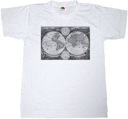 $enCountryForm.capitalKeyWord NZ - VINTAGE WORLD MAP T-SHIRT 100% COTTON CLASSIC OLD RETRO TEE TOP Custom Jersey t shirt
