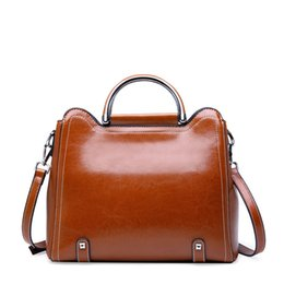Real Leather Hand Bags Australia - 2019 New Genuine Leather Bags For Women Crossbody Handbags Real Cow Leahter Women Handbags Fashion Ladies Hand Bags