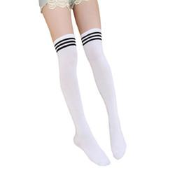 b15879aae30 Kids Knee High Socks Girls Boys Football Black White Stripes Cotton Sports  Socks Children Long Tube Leg Japanese Student