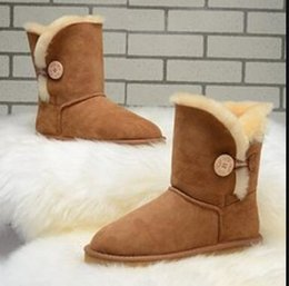 women buttons UK - 5803-2 Australia Classic Shoes Women High Quality Work Boots 3AA+ Winter Snow Boots Luxury Button Ankle BootsUGGSSneaker