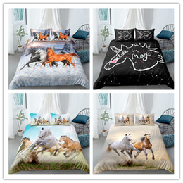 horses sheets Australia - 3D Hot Sale Animal Horse 2 3Pcs Set Bedding Set Dream Bed Sheet For Girls Boys Adult Duvet Cover Set Twin Full Queen Size