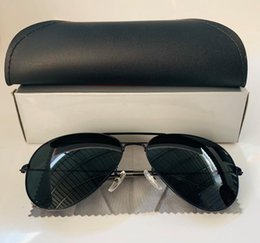 glasses aviator case Canada - New M BANS RAY Aviator Vintage Sunglasses Pilot Men Women 58mm 62mm Bans UV400 Polarized Band Mirror Glass BEN Sun Glasses with case
