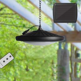 $enCountryForm.capitalKeyWord Australia - Solar Powered Pendant Light Retro Lampshade Bulb With Cord Remote Control Solar Outdoor Hanging Shed Light for Garden Patio Home