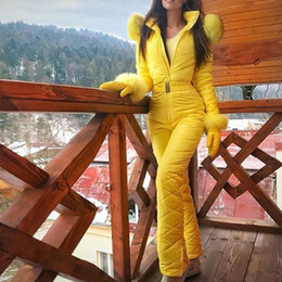 Snow Ski pantS online shopping - S XXXL Women Jumpsuit With Glove Breathable Snowboard Jacket Skiing Suits Pant Sets Warm Bodysuits Outdoor Snow Suits