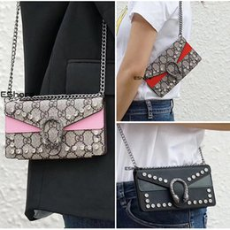 Phone cases chained bags online shopping - Famous Bag Style Phone Case for IPhone X XS Max XR plus plus Long Shoulder Metal Chain Purse Lady Fashion Handbag Cover