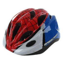 kid bicycles UK - BASECAMP Children Bicycle Helmets Hero Style Safety Bike Helmet Night Light Ultralight Breathable Cycling Kid Helmet BC-019Re