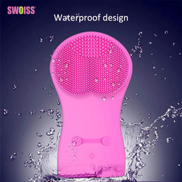 $enCountryForm.capitalKeyWord Australia - Silicone Facial Cleaning Brush Electric Wash Instrument Ultrasonic Vibration Pore Cleaner Waterproof Beauty Instrument